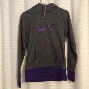 NIKE Dri-Fit Sweatshirt Purple and Gray Active